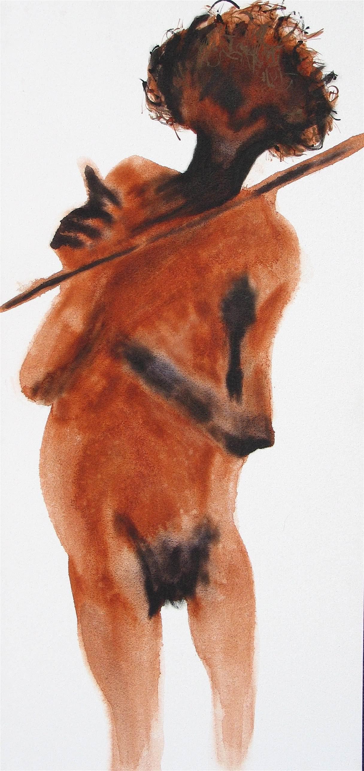 Aboriginal Man : 38 X 84 cm acrylic on canvas
