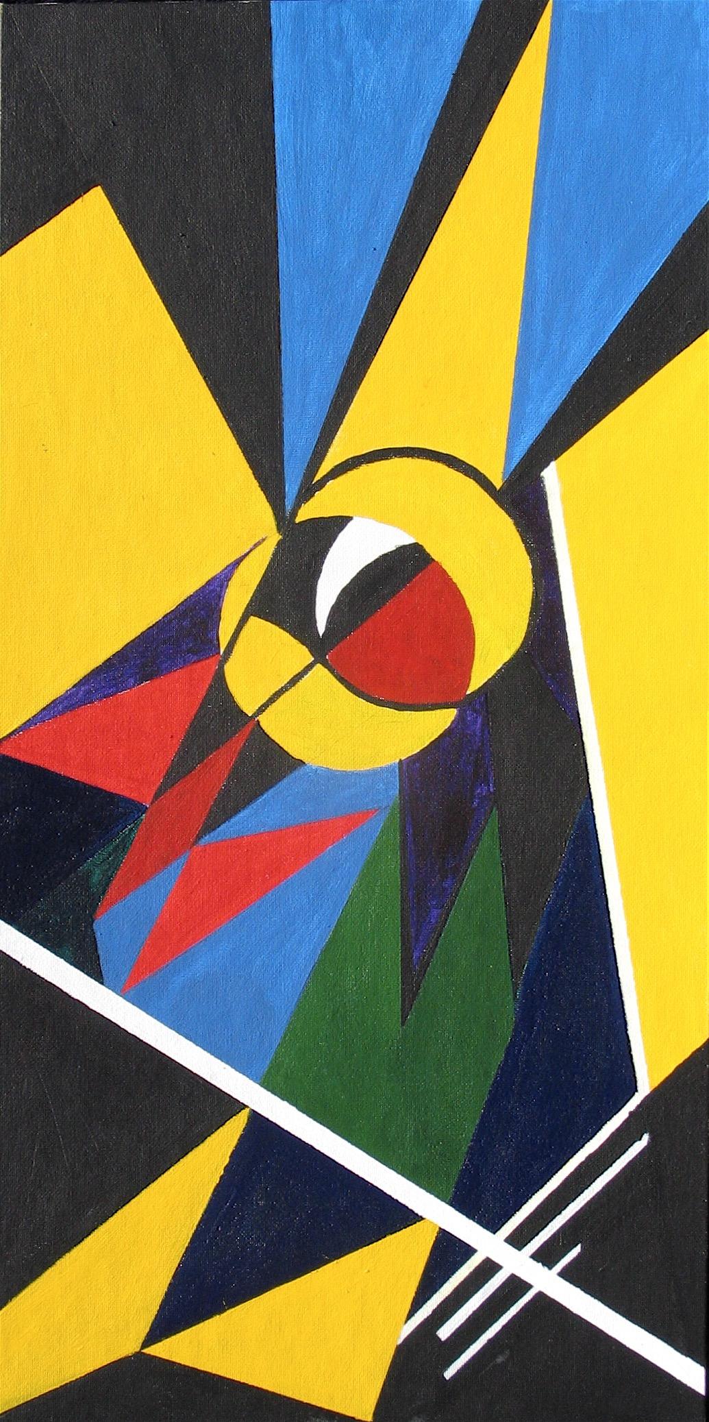 Bird's Eye : 30 X 61 cm acrylic on board