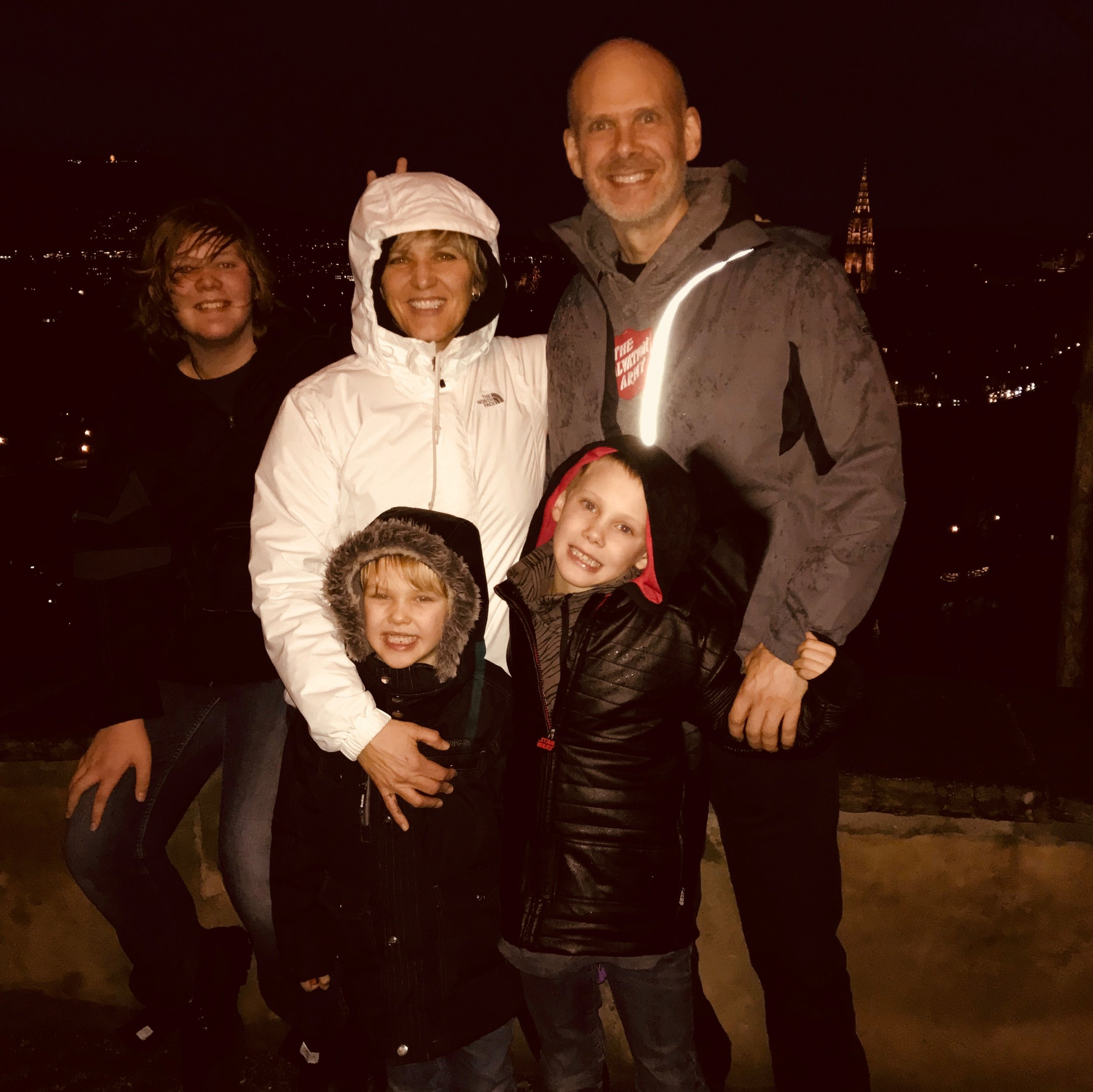 Danielle and family in Toronto.