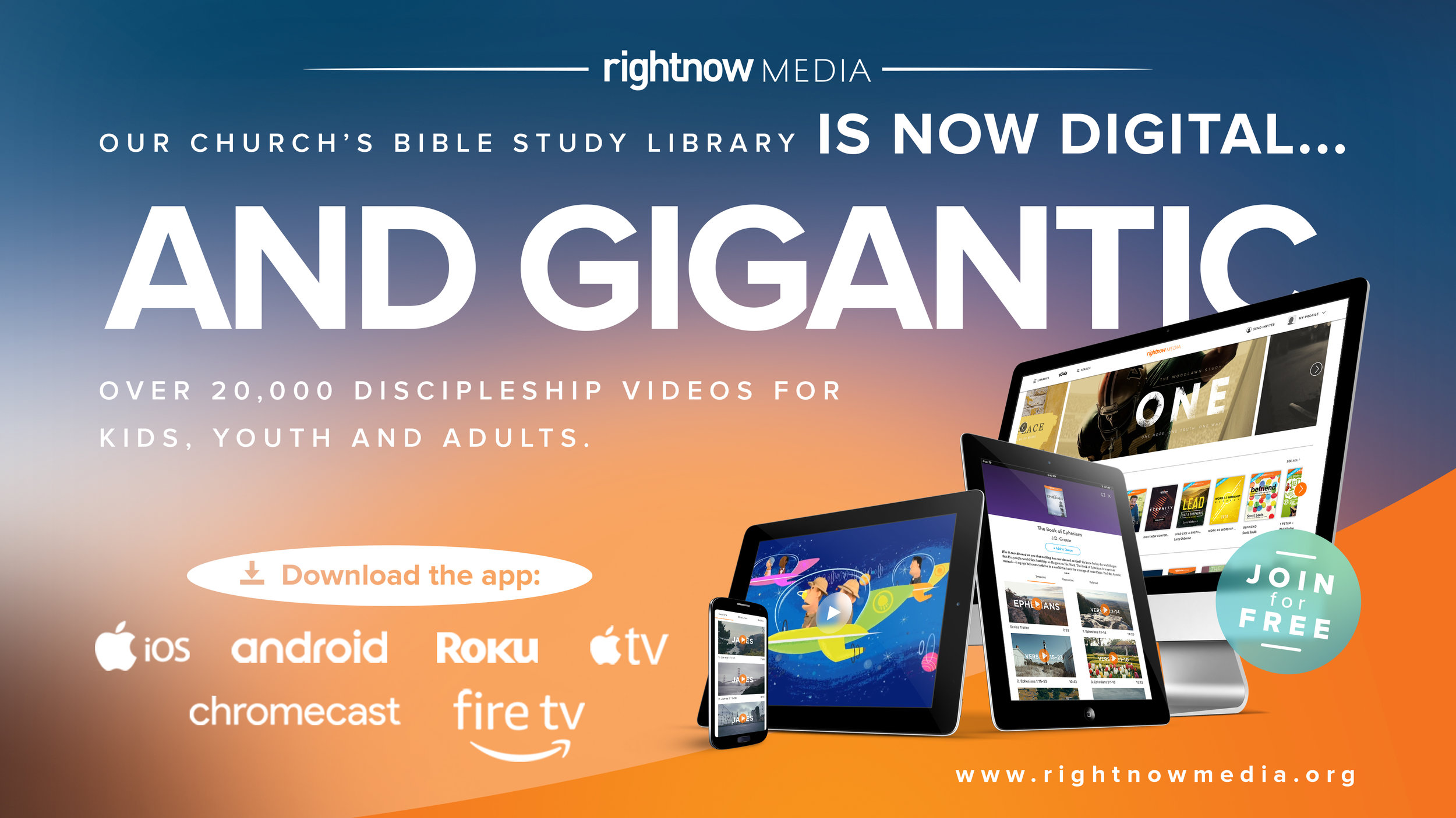 Contact Pastor Tom or Allan to gain access to our RightNow digital Bible study library. Click image to contact.