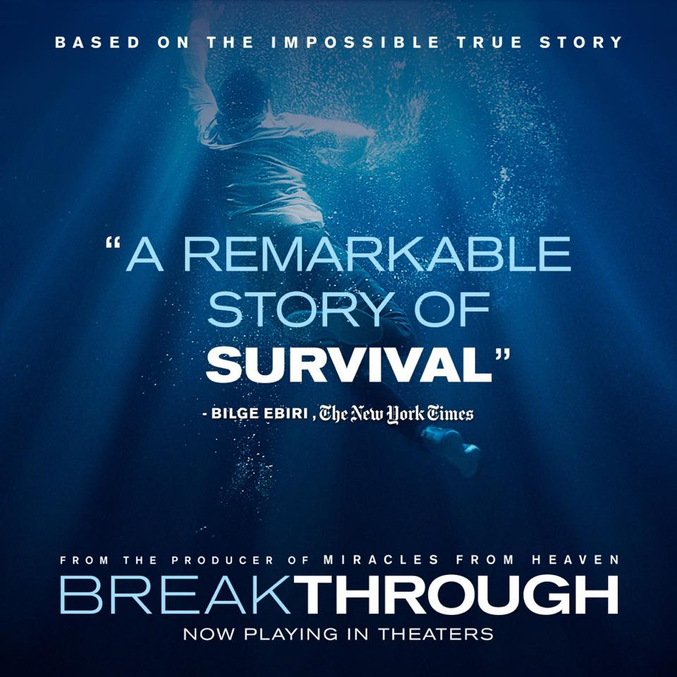 MOVIES IN PERSPECTIVE: BREAKTHROUGH  Join Younger Generation Church's Movies In Perspective group for its Breakthrough movie night. The experience will be held at Arlington Adventist Church in Arlington on Sunday, August 25, 2019 at 7:00 PM.   Ticket Information : Email info@ygchurch.com for more information and RSVP at  fb.ygchurch.com . Once you RSVP, you will be connected to the event coordinator. Admission for this event is free.   Event Details:  The doctors had no hope. The extended family had no hope. Even John's father had prepared to accept the worst possible outcome. But Joyce Smith refused to give up. She put her trust in God, her faith and her unfaltering love for her son and prays him back to life in the face of unthinkable odds.    Movies In Perspective will be hosting a showing of   Breakthrough   at Arlington Adventist Church at 7:00 PM on Sunday, August 25, 2019.  Arlington Adventist Church 4409 Pleasantview Drive Arlington, Texas 760117   Event Contact:  Please email info@ygchurch.com with questions.   Movies In Perspective:  Movies In Perspective is a LIFEgroup sponsored by Younger Generation Church in Arlington, Texas. The group provides opportunities for individuals to fellowship while enjoying new blockbuster hits. Beyond simply fostering a movie watching experience, Movies In Perspective encourages intentional conversations where attendees discover the movie's connection to life.