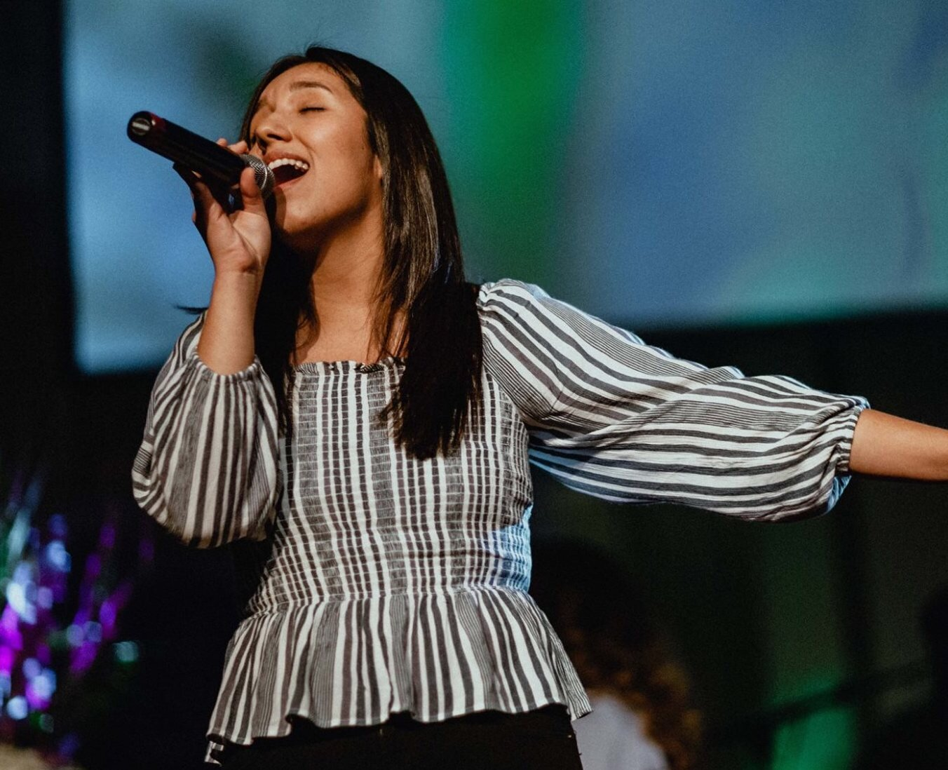 SECRET INGREDIENT #2 Families that Serve Together Form Faith and a Heart for Ministry.   I along with many other are blessed by YG's worship leaders, among them DBU collegian, Melody Mendez. We consider her one of the vibrant faces of our ministry, and I am so inspired and impressed by her love for Jesus 24/7. Melody is YG and shines Christ Jesus both on and off stage.  You may not know one of the major influences that has shaped Melody's ministry and her heart for GOD. It's one of the secret sauce ingredients that often goes undetected by people.