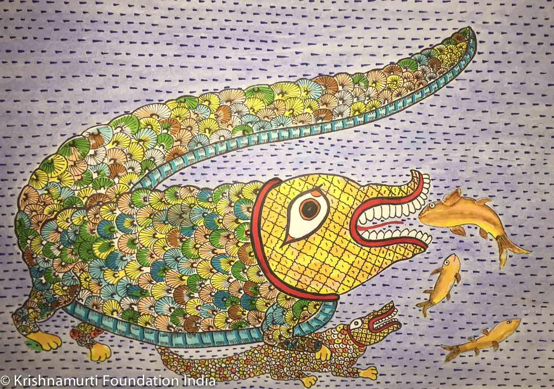 Artwork by Seema, Class VIII, 2016 batch