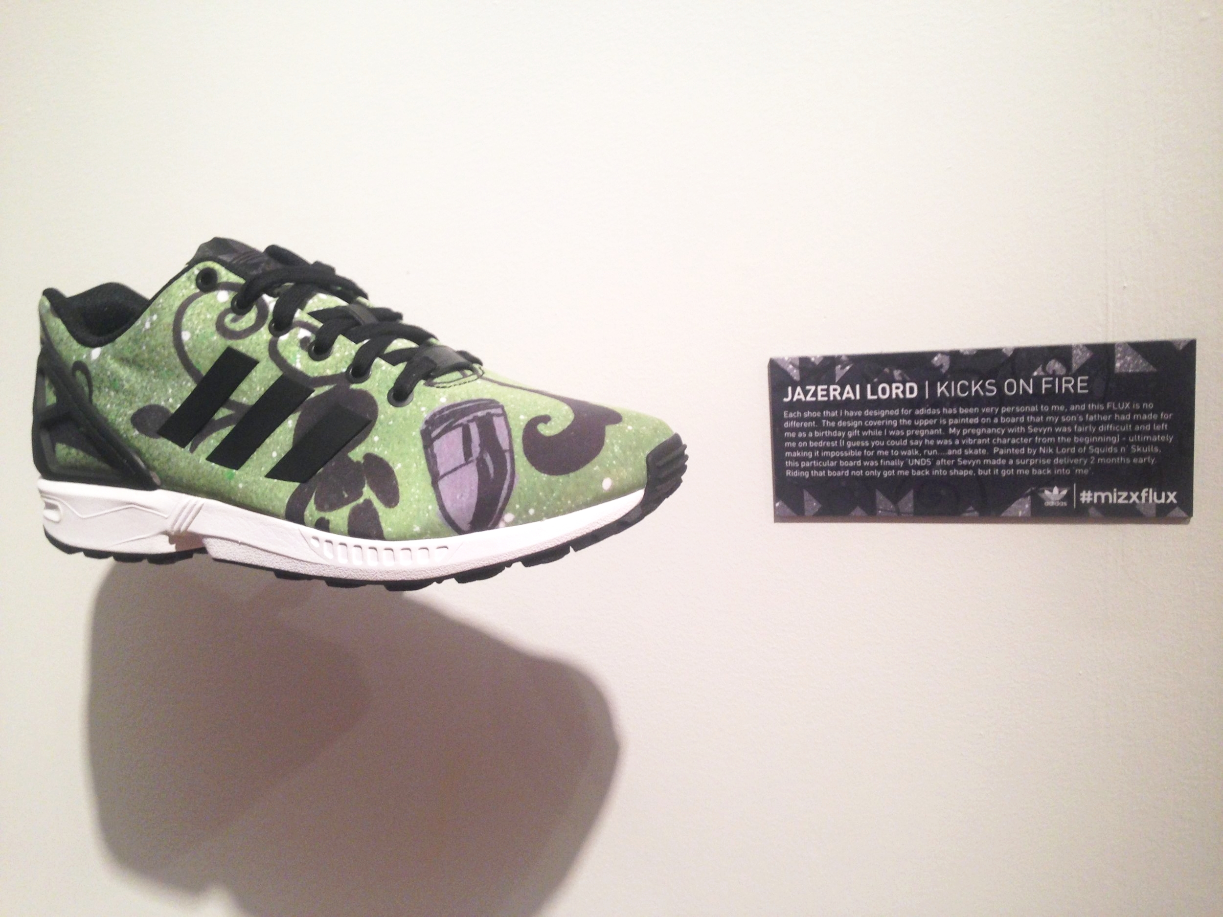 #mizxflux on Wooster St. - I worked with Wex and my ex brother-in-law on designing this ZX FLUX for an adidas exhibit on Wooster St.