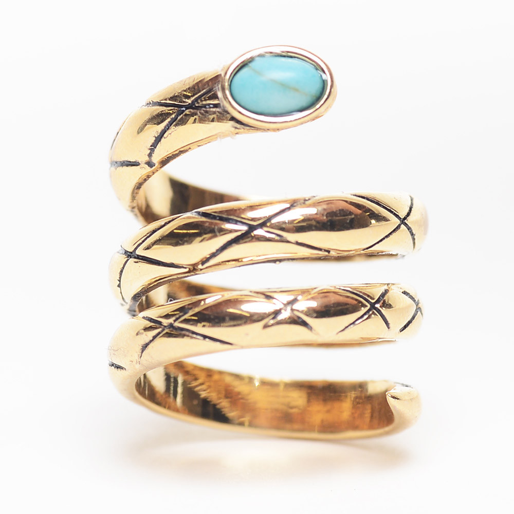 Spiral Turquoise Ring $12 (on sale from $32)