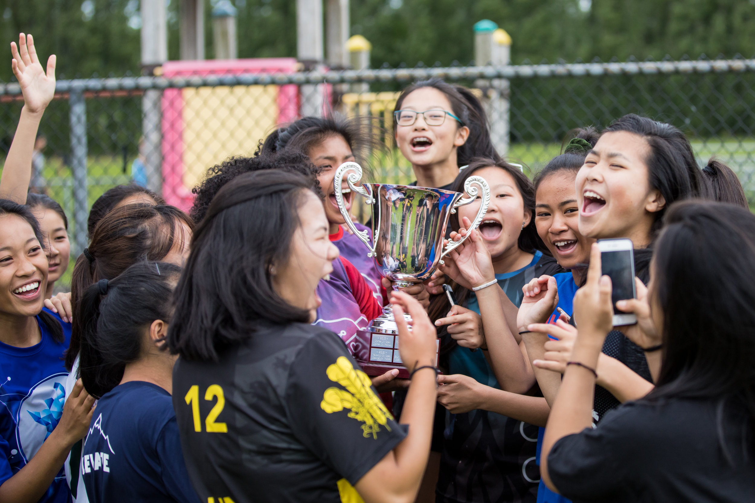 Havoc (Women's) celebrates with the Misfit Cup. Photo courtesy of  Jon Hayduk Photography .