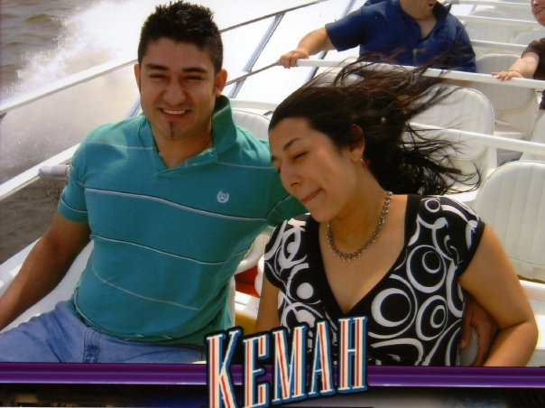 A photo of us when we met. Two strangers in Kemah 2007