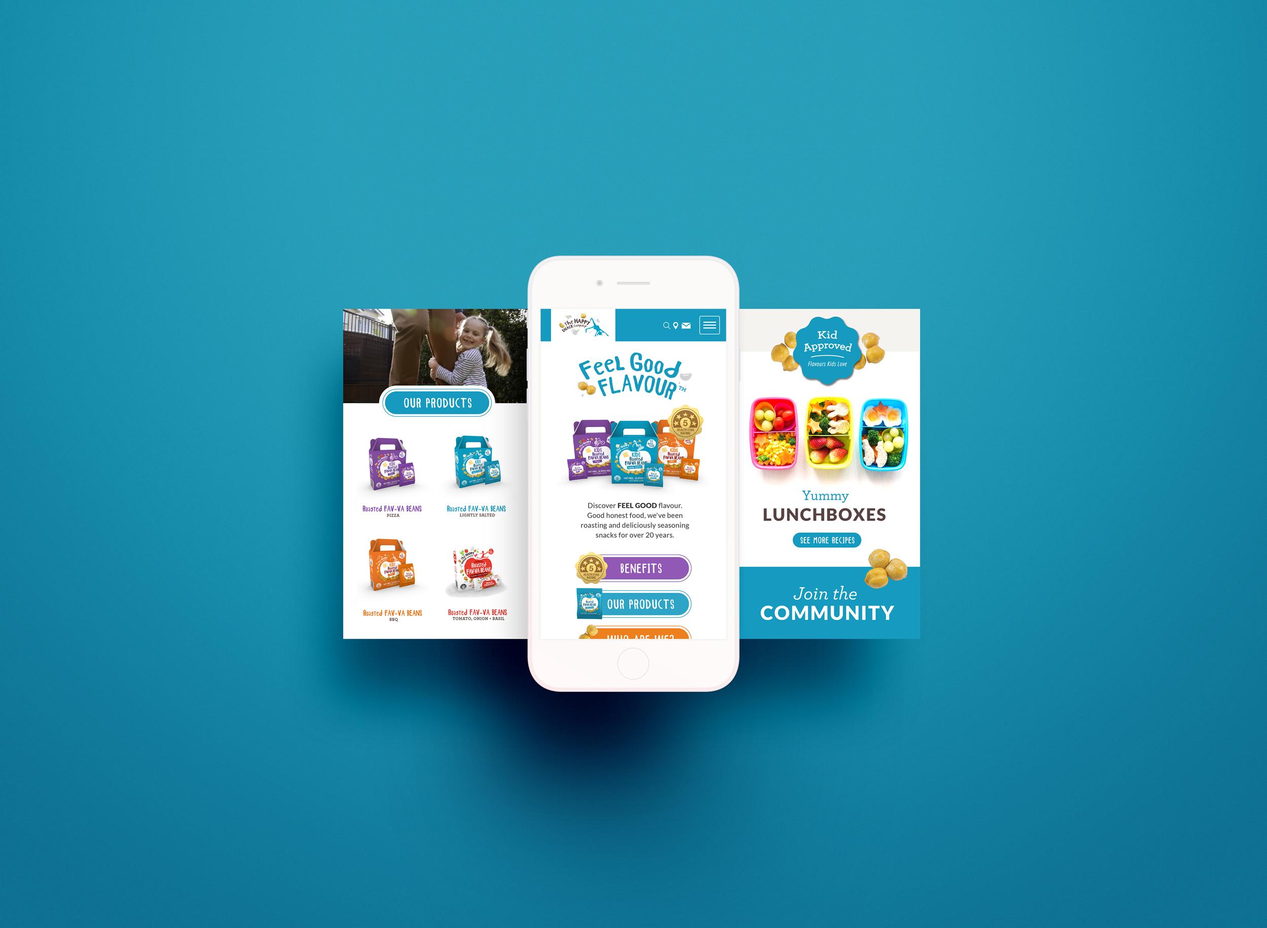 The Happy Snack Company Mobile Design