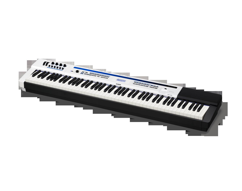 Casio PX-5SWE Digital Stage Studio Piano side