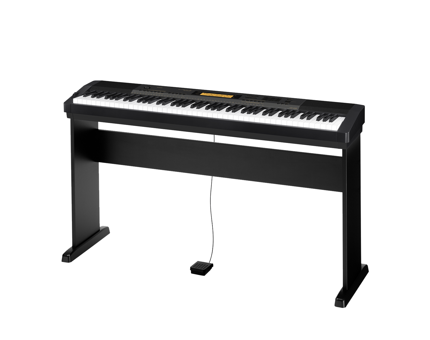Casio CDP-230RBK Compact Digital Piano stand side