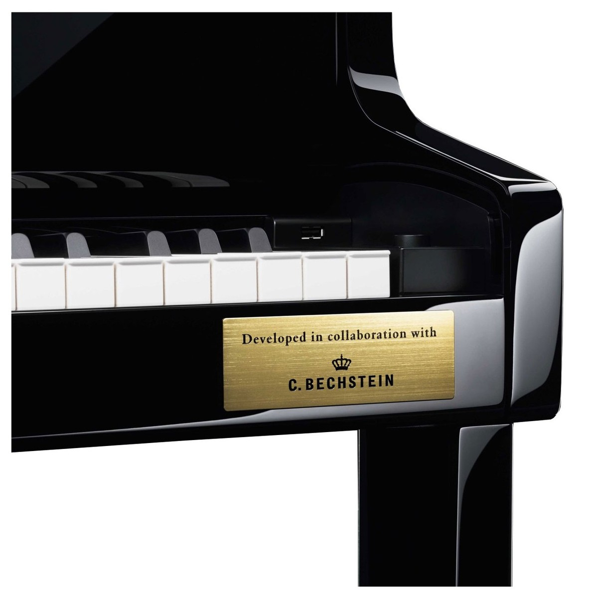 Casio GP-500 Grand Hybrid Piano C. Bechstein plate