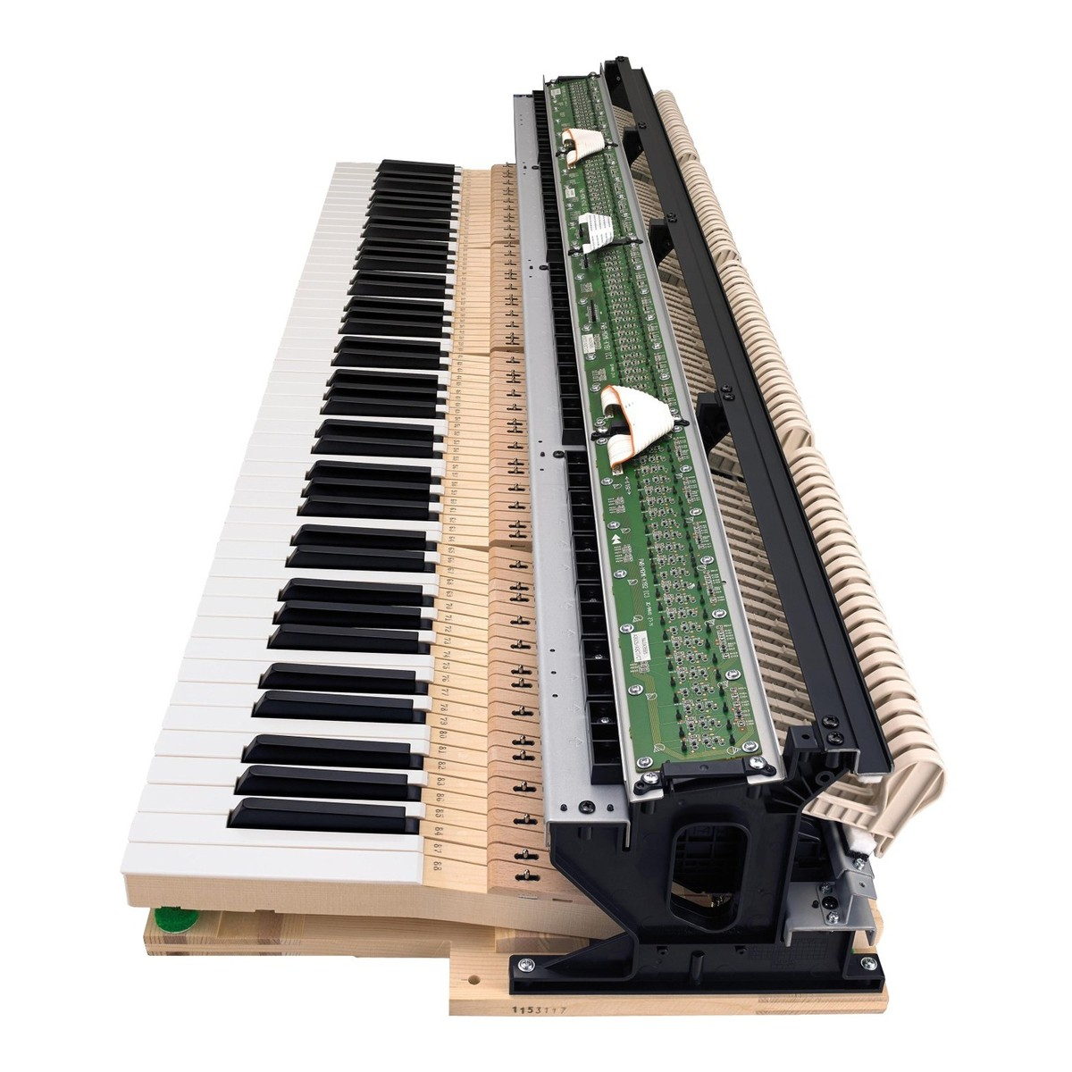 Casio GP-300BK Grand Hybrid Piano key cross section