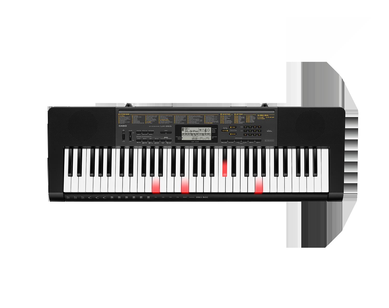 Casio LK-265 key lighting keyboard image top