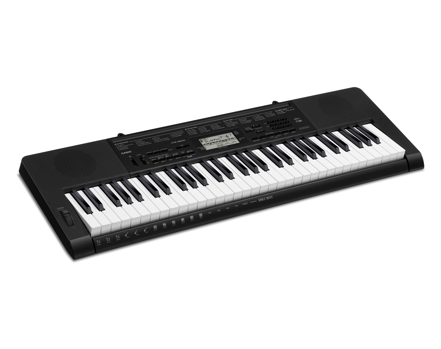 Casio CTK-3500 full size keyboard image side