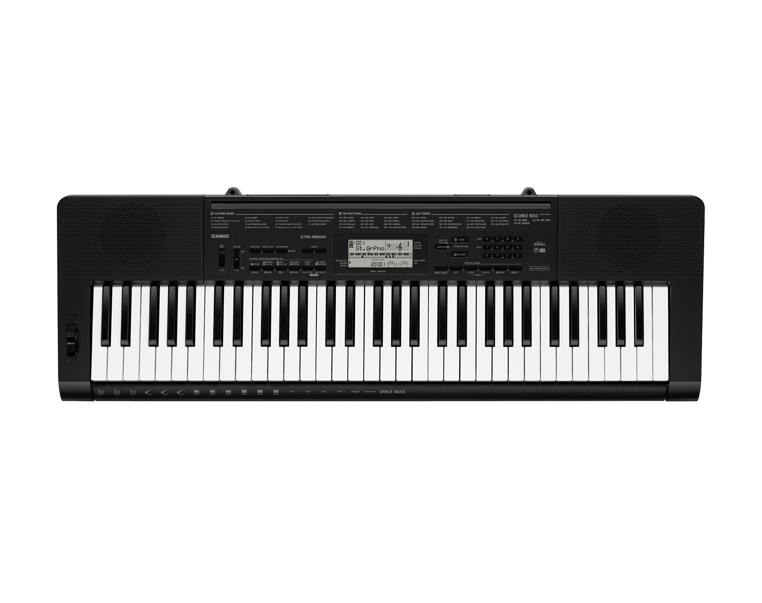 Casio CTK-3500 full size keyboard image top