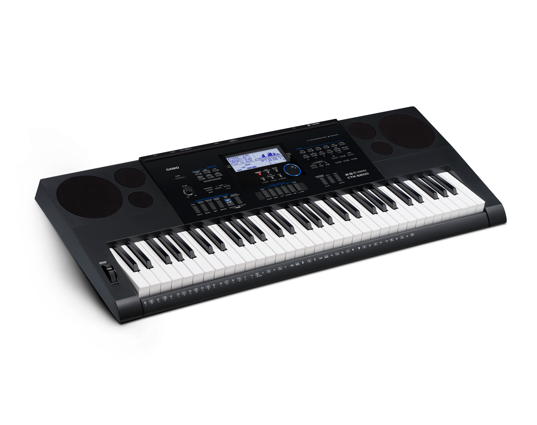 Casio CTK-6200 high grade keyboard image side