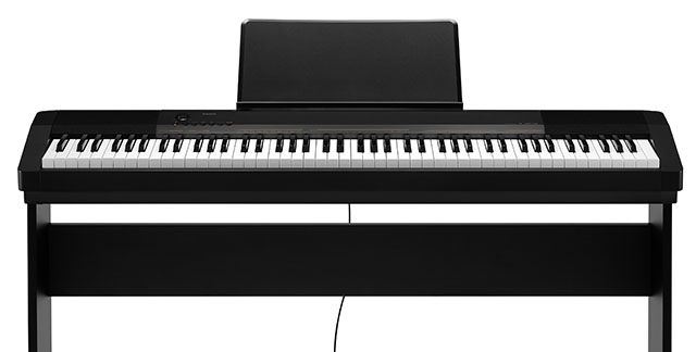 An affordable first piano: The CAsio CDP-130 (shown with optional stand)