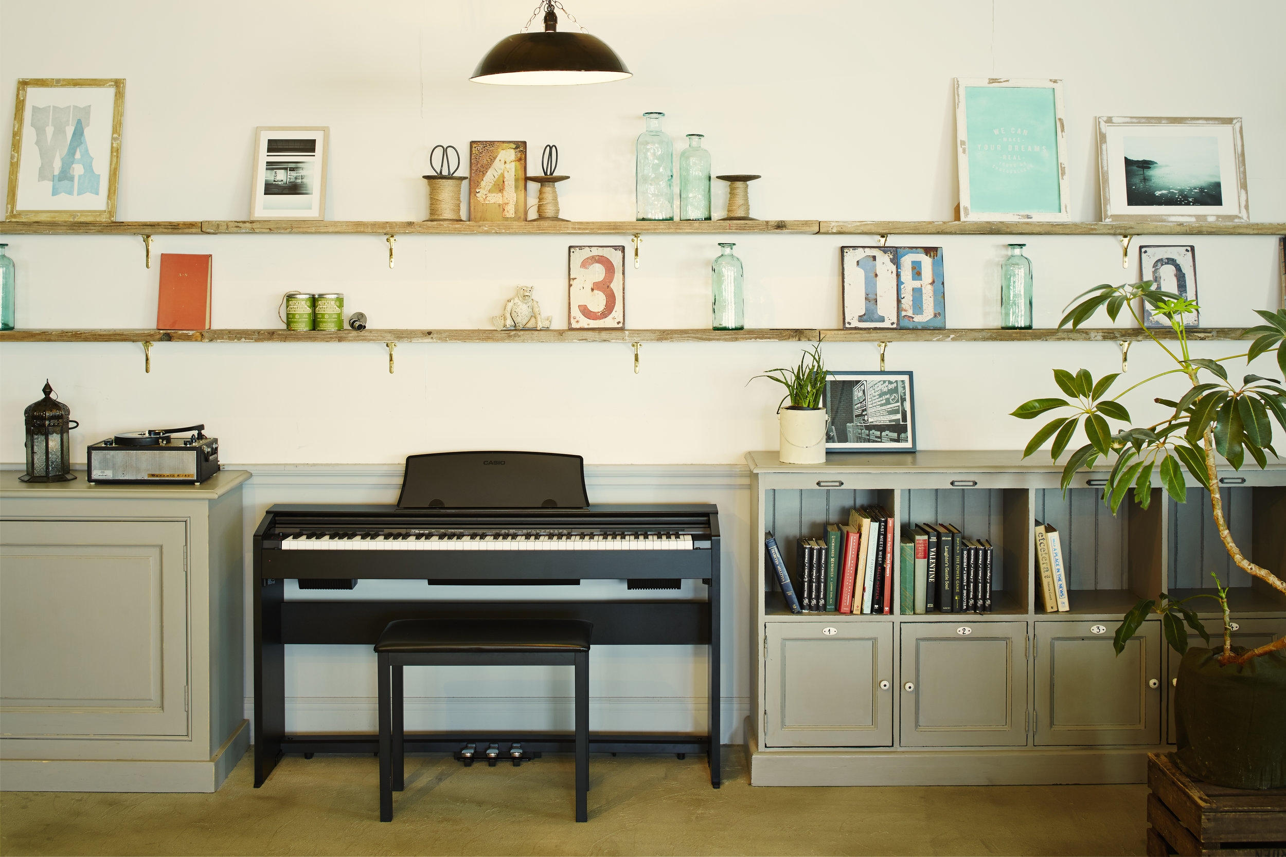 The Casio Privia: Perfect for small living spaces.