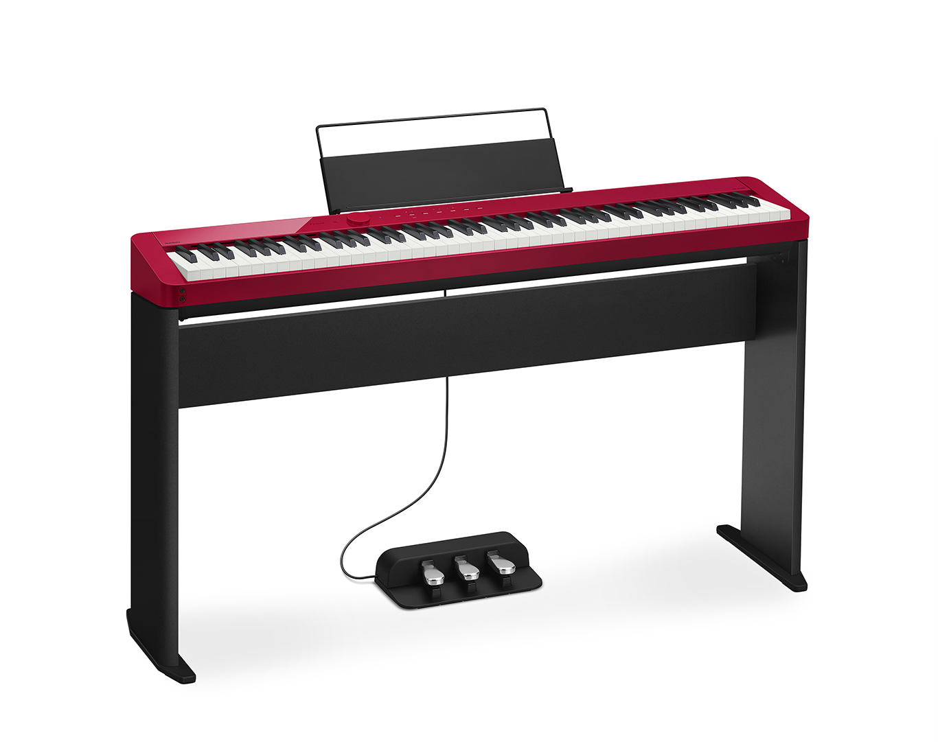 shown with optional cs-68 stand and sp-34 three pedal unit.