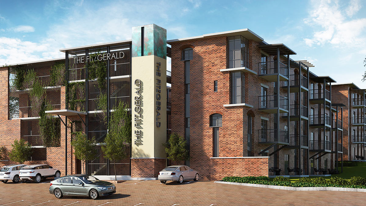 THE FITZGERALD - 67 New York-style apartments right in the middle of Melrose.1- and 2-bed units starting at R1.65mPHASE 1 SOLD OUTREGISTER YOUR INTEREST FOR PHASE 2