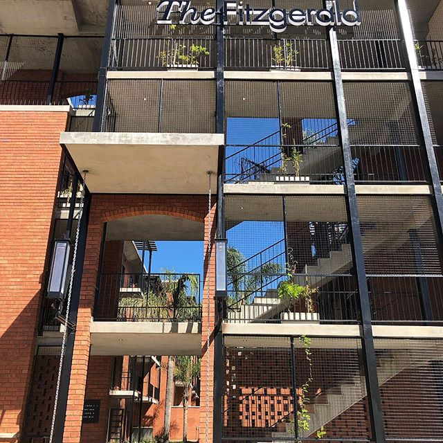 Looking forward to this facade being covered in greenery 🌿🍃🌳 #TheFitzgerald #greenwall