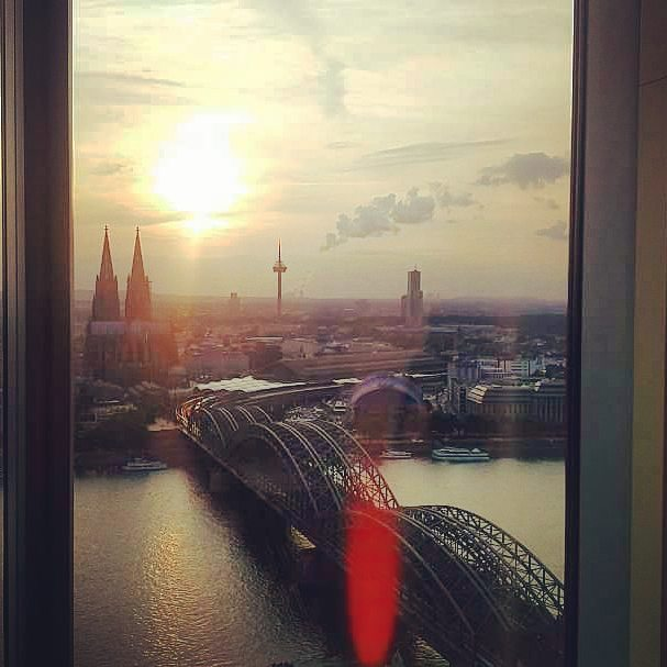 Köln from the top #skyscraper #sunset #city