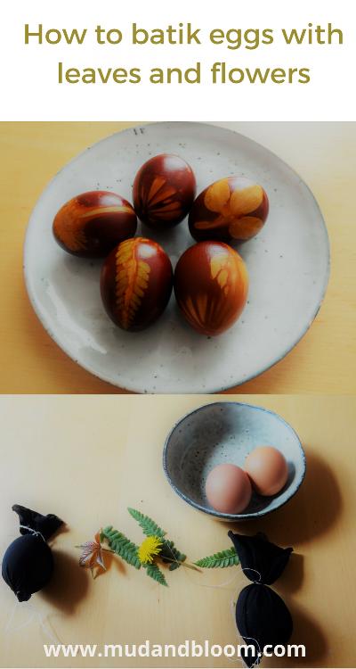How to make batik eggs