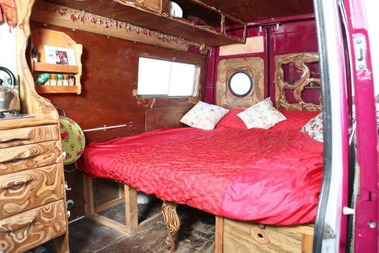 handcrafted quirky camper van