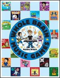"""The Meridee Winters TOP SECRET Game Book - A student AND teacher favorite, the MW Game book has been called a """"secret weapon"""" that keeps lessons engaging while helping build and practice essential musical skills. Music has never been more fun or imaginative! This book includes exercises in note reading, songwriting, improvisation, rhythm and more. Improve your skills and creativity by leaps and bounds while playing games that are fun for all ages!"""