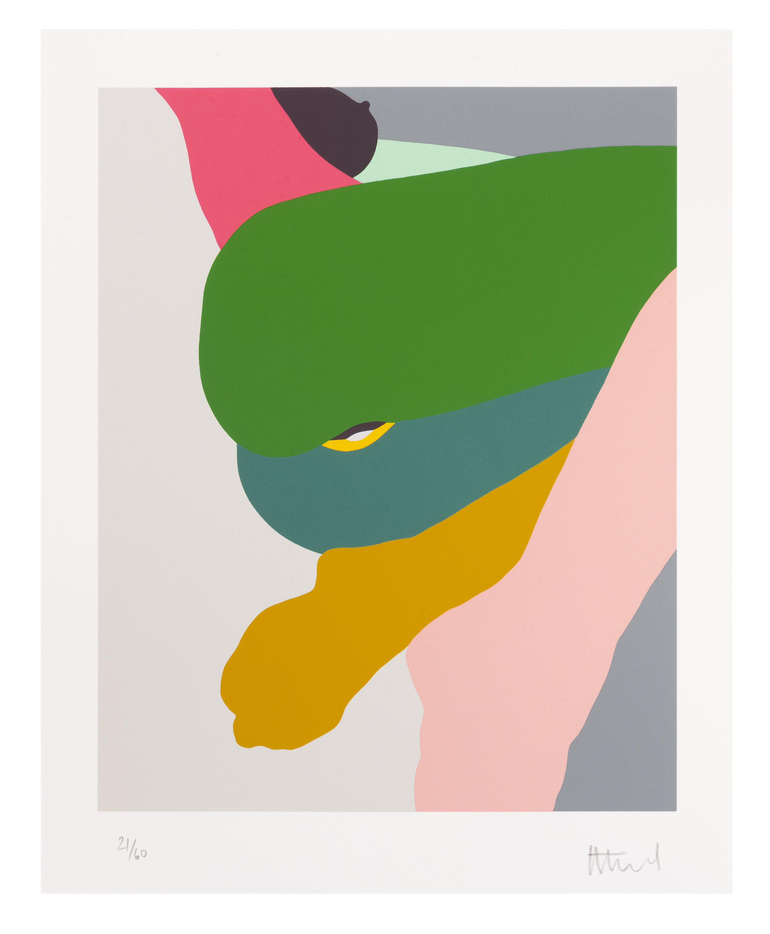 Helen Beard  Syntribate, 2019  Ten Colour Silkscreen Print on 410 gsm  Somerset tub sized radiant white paper  381 x 305 mm  Signed and Numbered  Edition of 60  £480 (Including VAT)  Approximate Packaging and Shipping:  UK £15-30  Europe £40-60  Rest of the World £50-£80  We will be able to give you an exact price on confirmation of purchase with a shipping address.