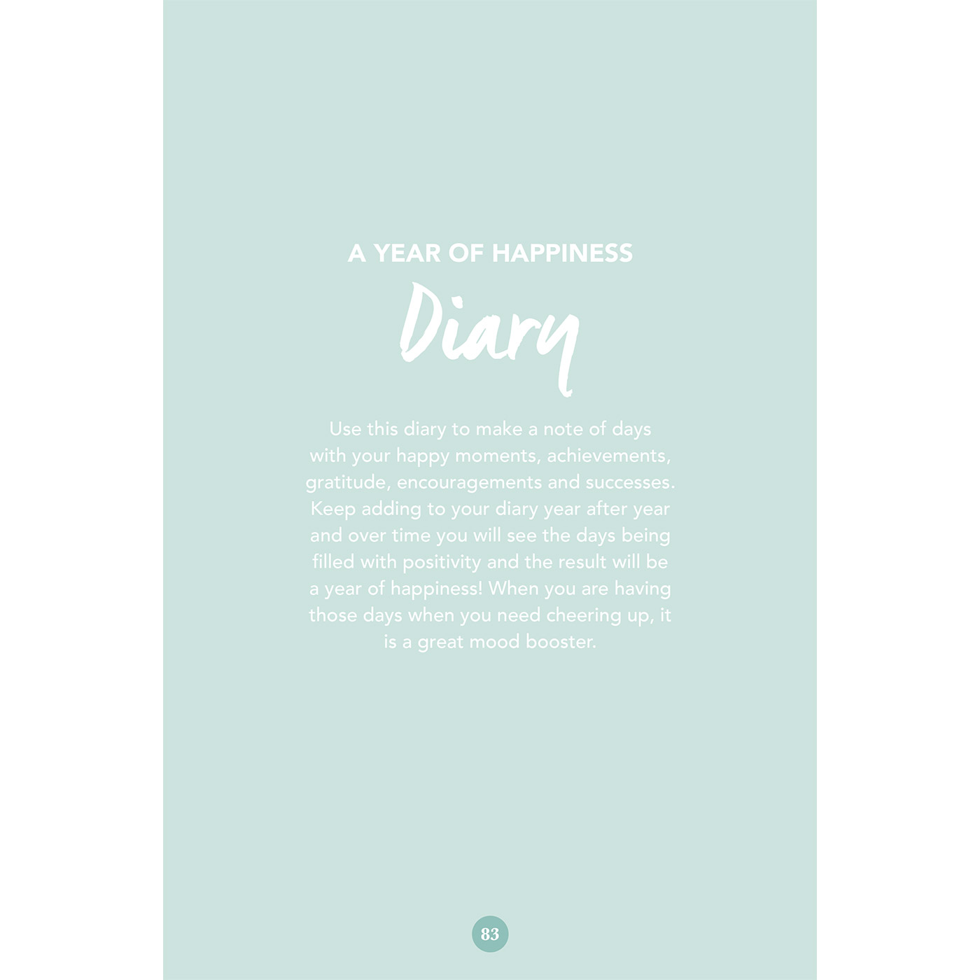 A Year Of Happiness mood booster journal - hardcover — mood booster journal