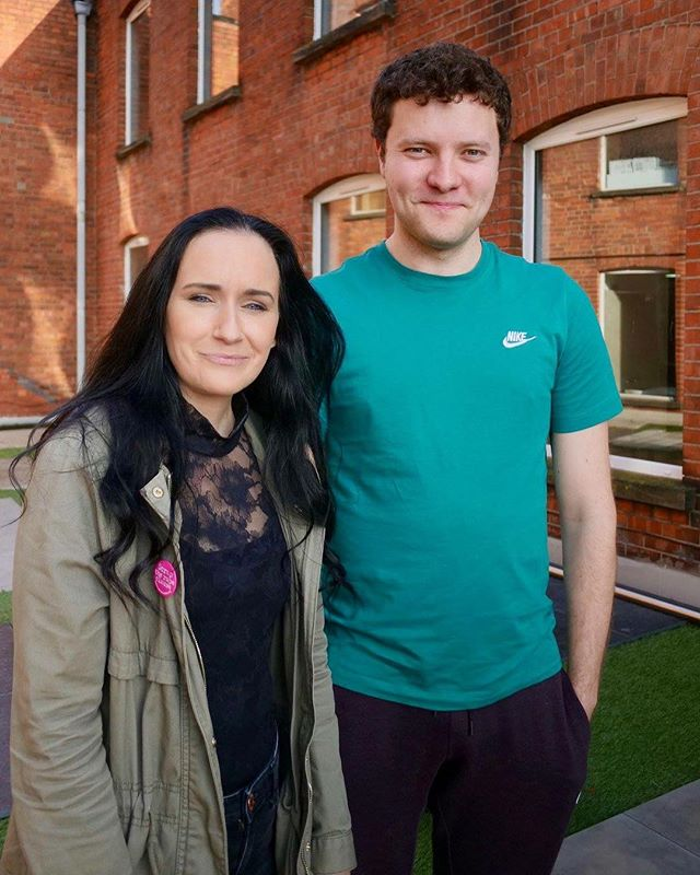 REMOVED OPENS TONIGHT at The Brian Friel Theatre, Belfast. Here are just two of the faces behind this project. . We can't wait to share this really incredible story with you. . Created by Writer Fionnuala Kennedy by listening to the experiences of young people in care in Northern Ireland, with thanks to VOYPIC. . Performed by Conor J Maguire & Directed by our own Artistic Director Emma Jordan. . As part of Young at Art's #BelfastChildrensFestival . . 📸 Matt Curry.