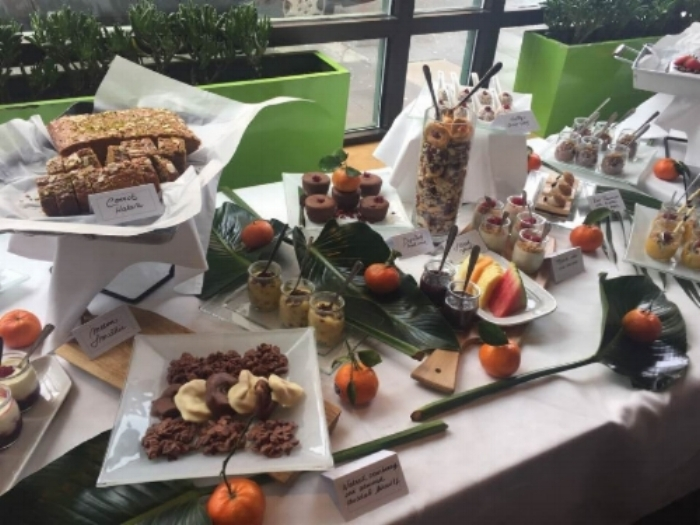 A 'free-from' feast of desserts minus gluten, dairy and refined sugar at the 2017 AFMCP-UK, Millennium Gloucester Hotel, London.