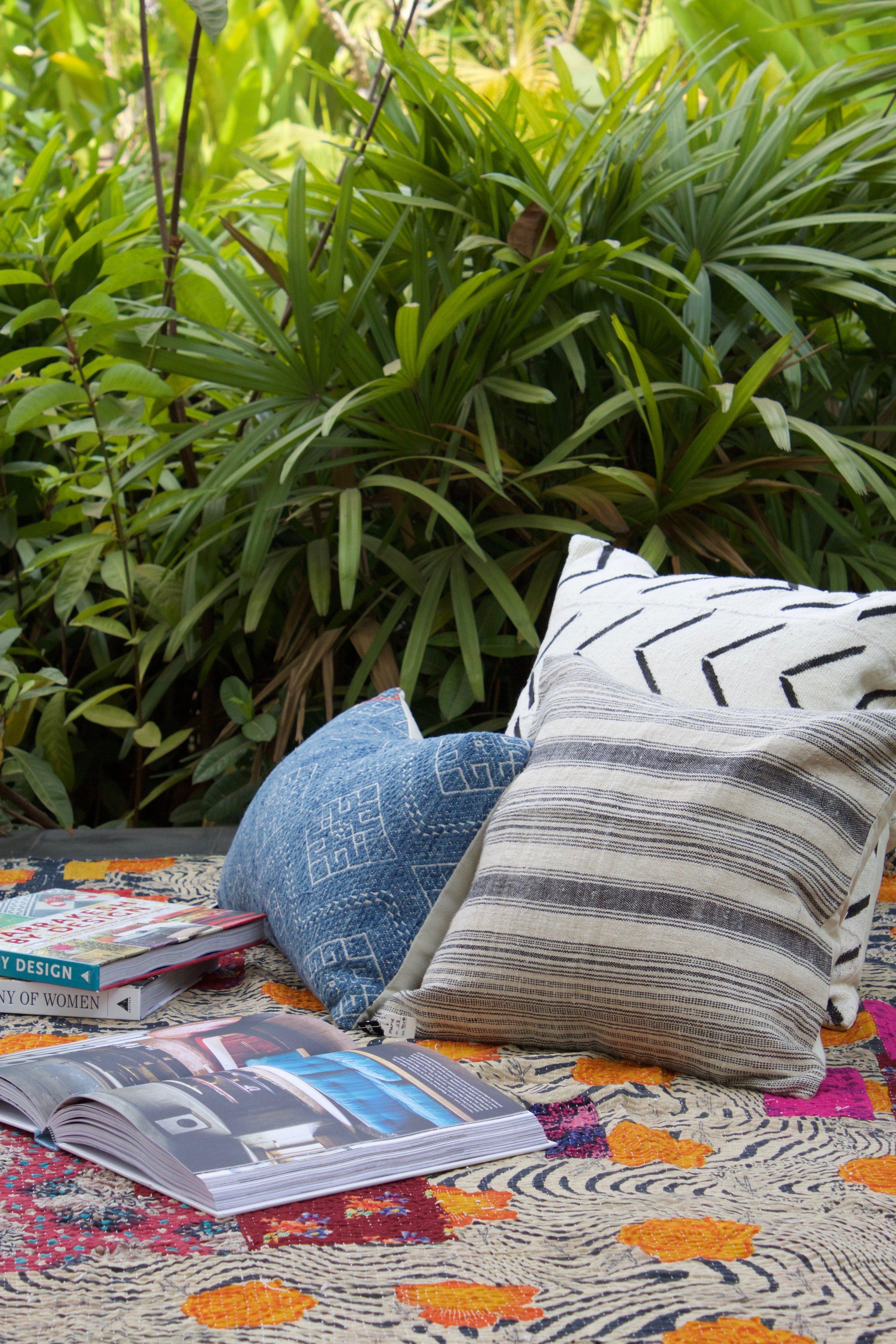 Kantha Throw Blankets -
