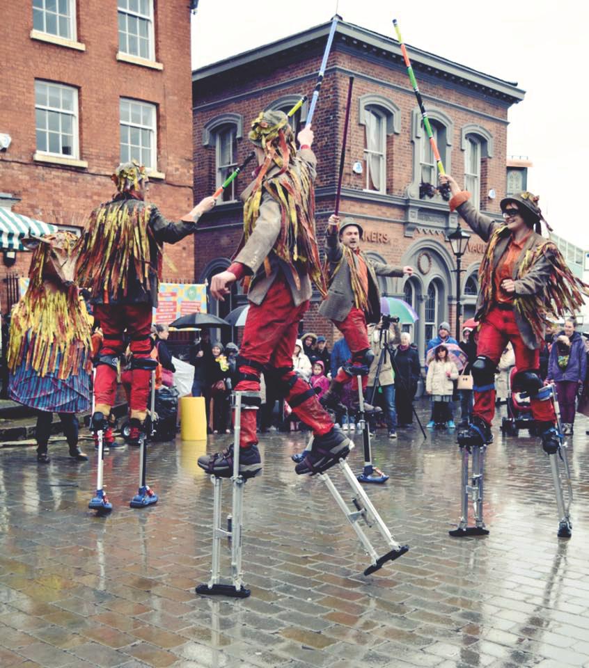 Folk dancing Farmers