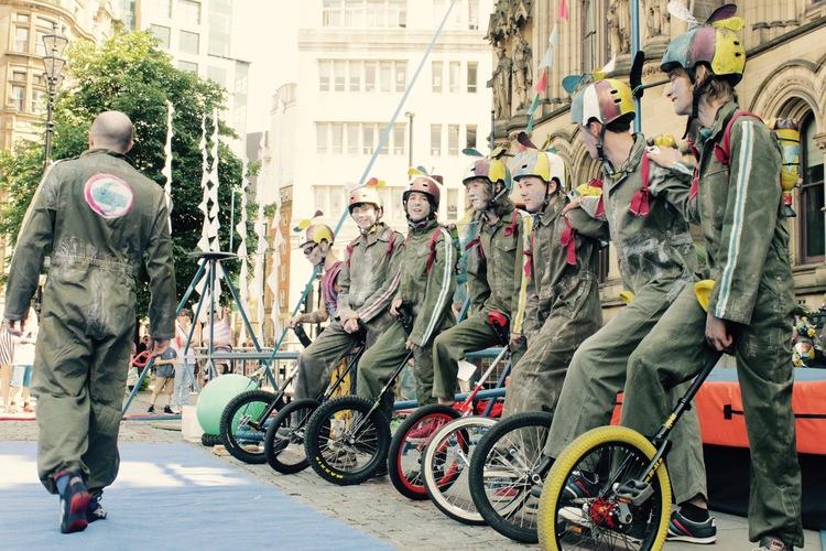 Unicyclists