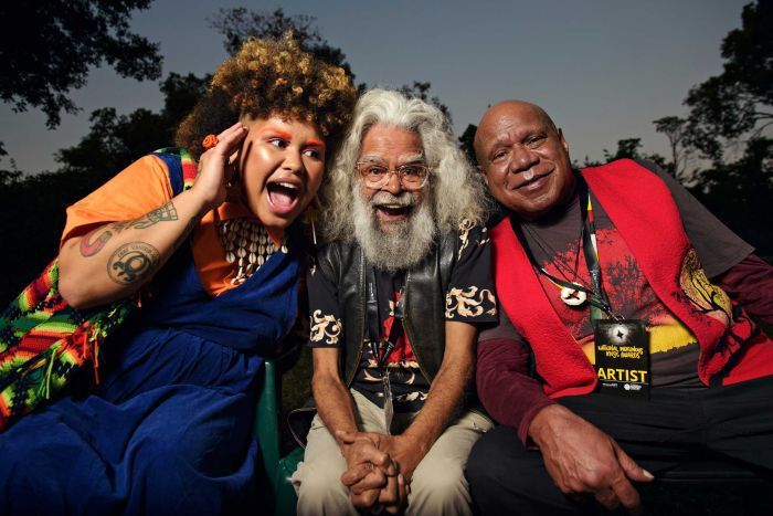 KAIIT, Jack Charles & Archie Roach by Michael Franchi for ABC.