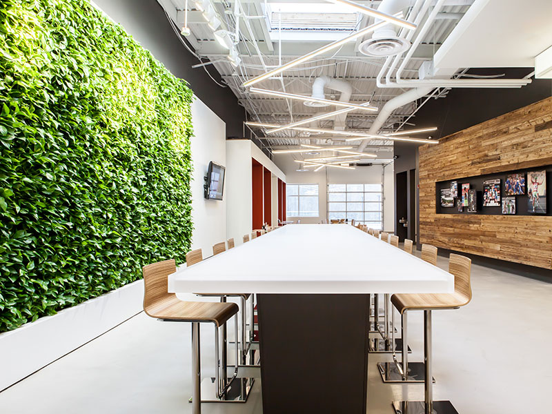 Cannondale Connecticut office with GSky Living Green Wall.