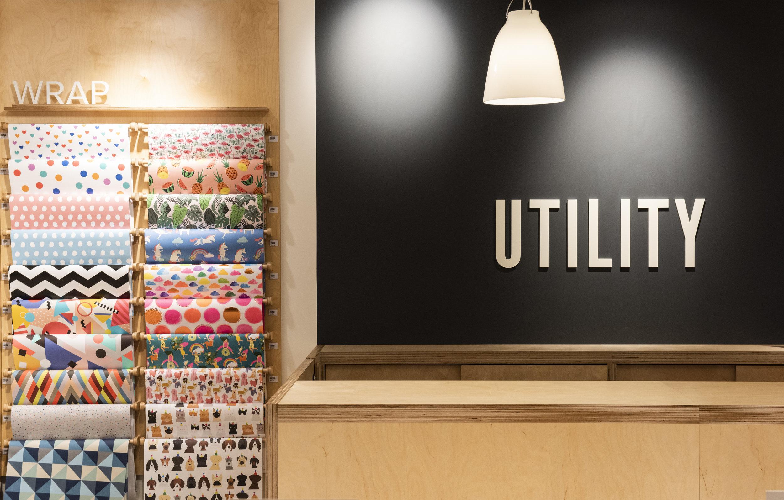 fixtures interior retail design utility manchester store design graphics agency lighting