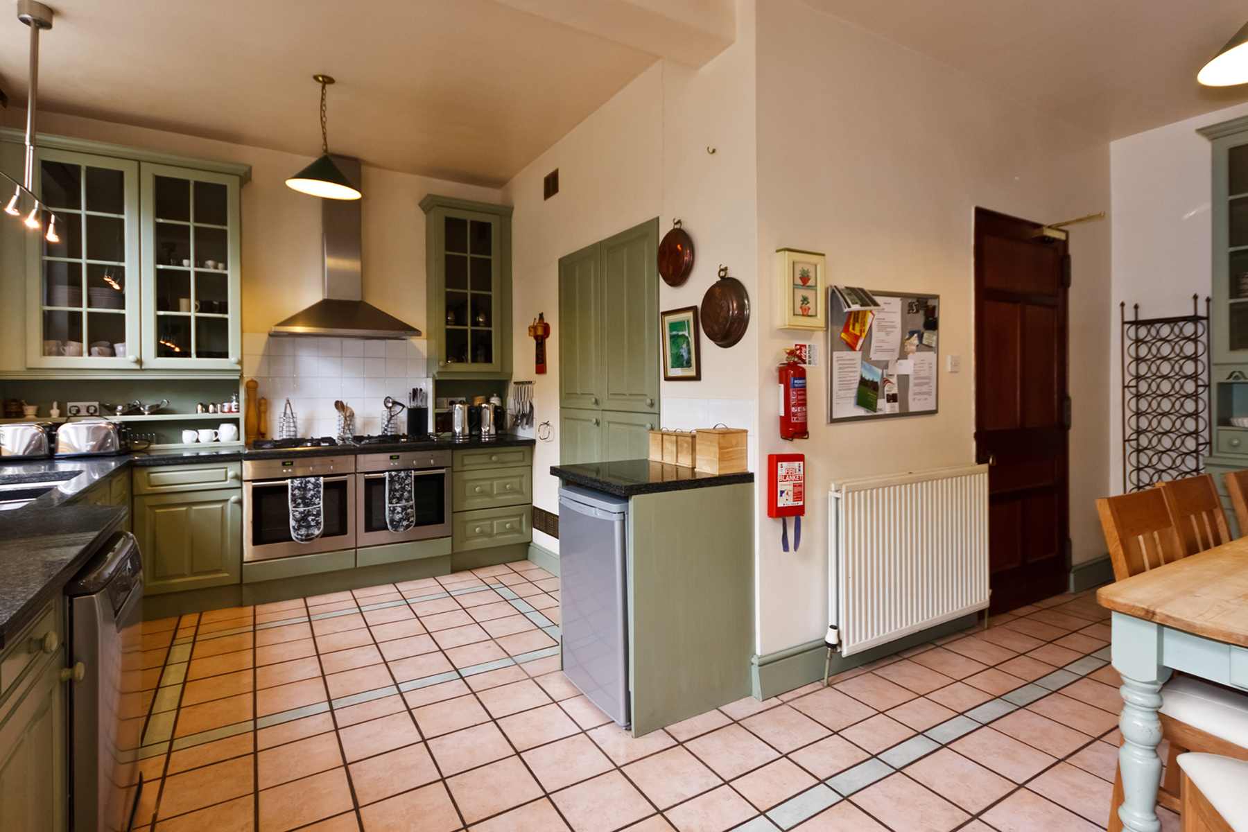 The Main Kitchen   Equipped for self catering for 28 guests  Sonos music system
