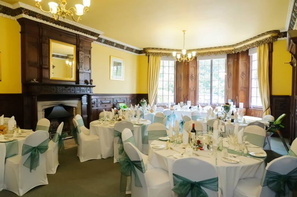 Wedding reception in the drawing room of Skendleby Hall
