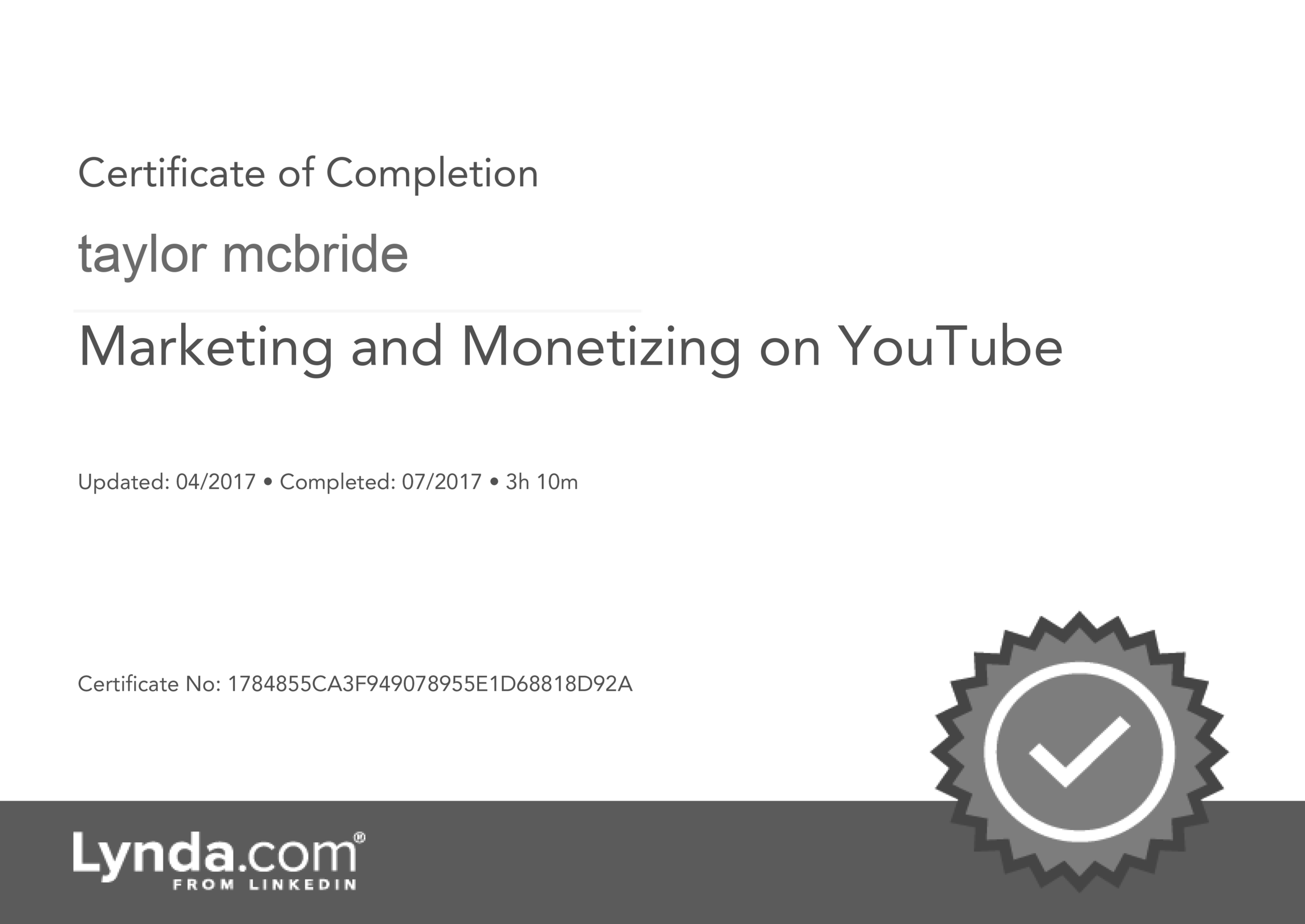 Monetizing-on-youtube-tutorial-certificate