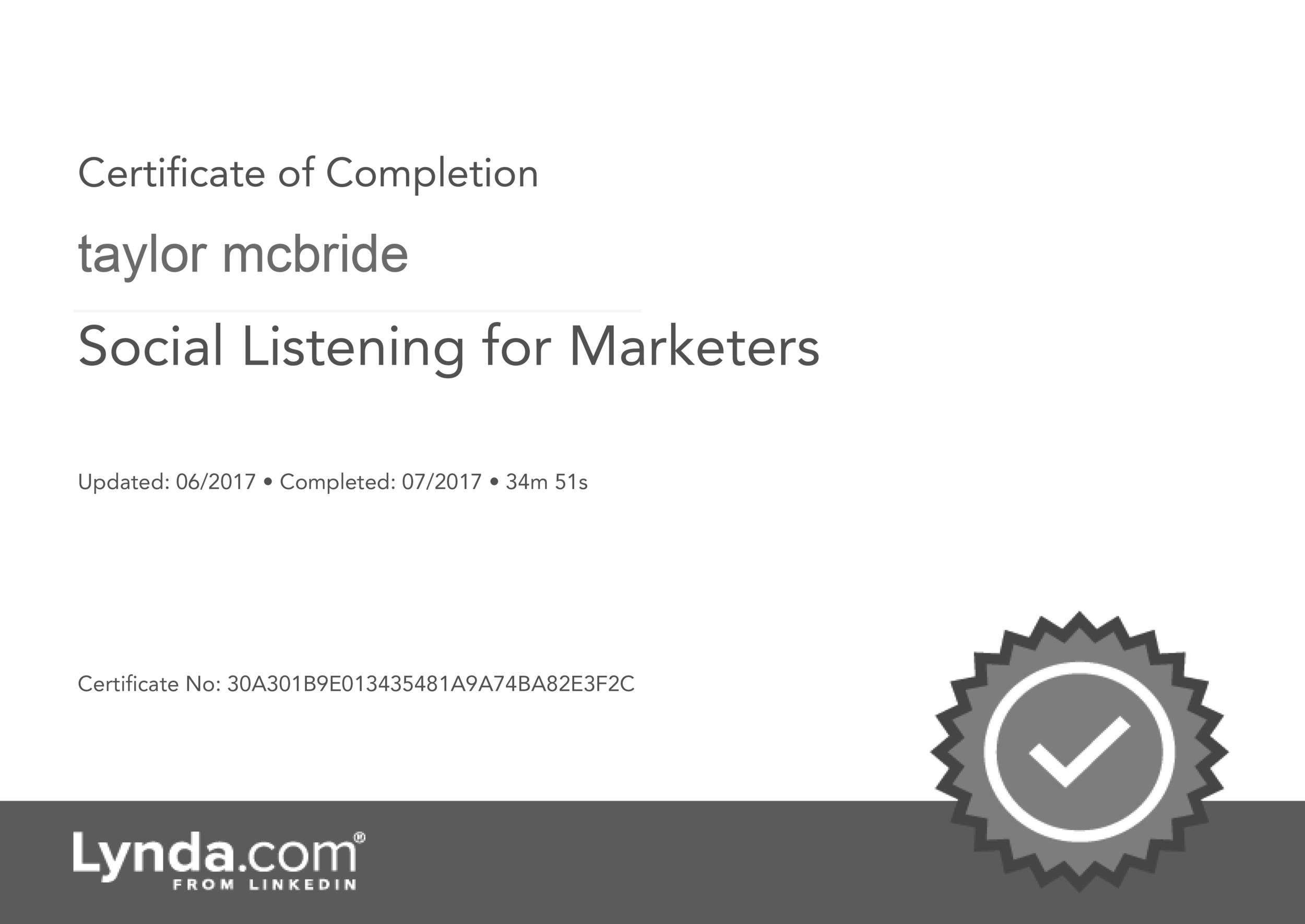 Social-Listening-On-Social-Media-Certificate