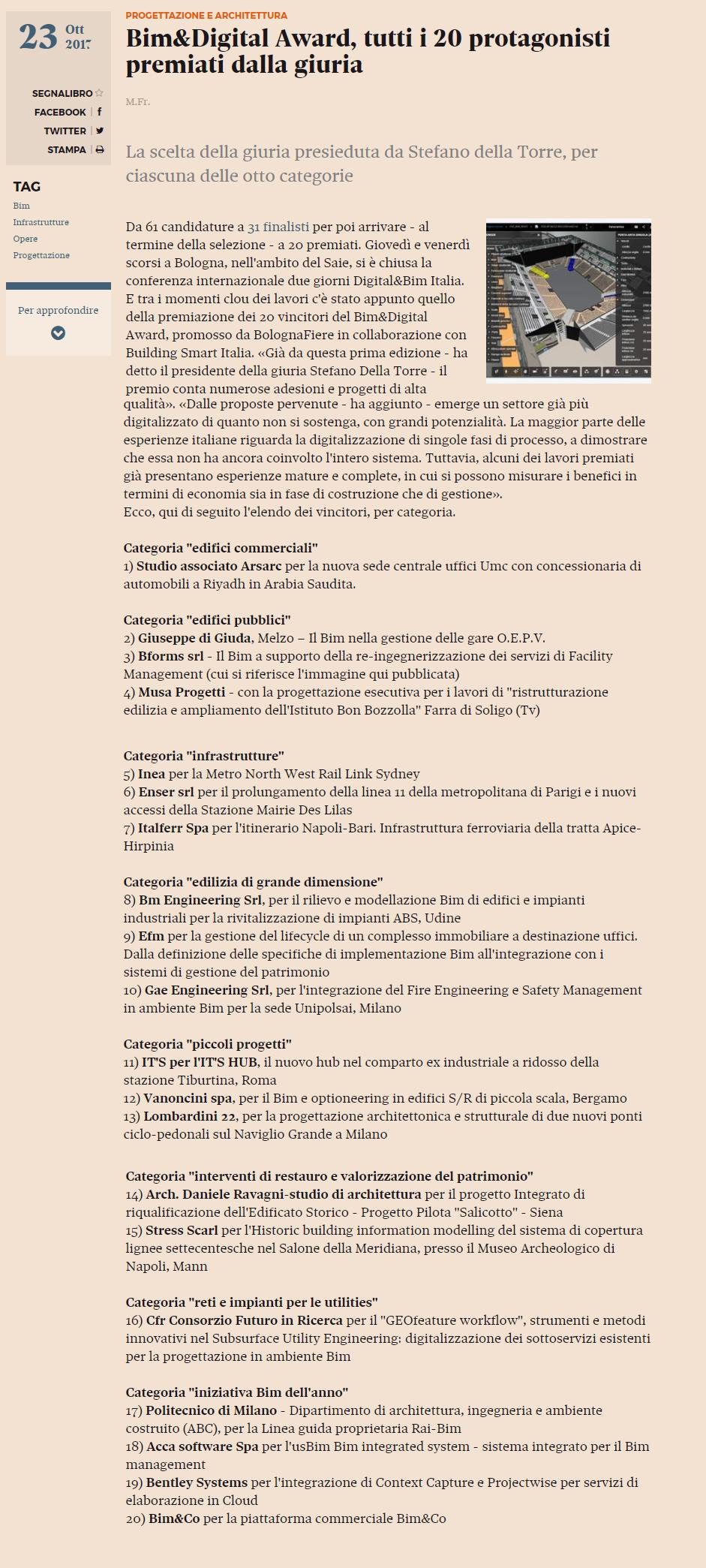 http://www.ediliziaeterritorio.ilsole24ore.com/art/progettazione-e-architettura/2017-10-20/bimdigital-award-tutti-20-premiati-giuria-162837.php?uuid=AEFA6tsC&refresh_ce=1