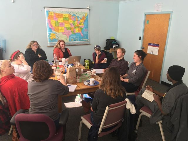Our awesome AmeriCorps crew planning awesome activities for the holiday season!