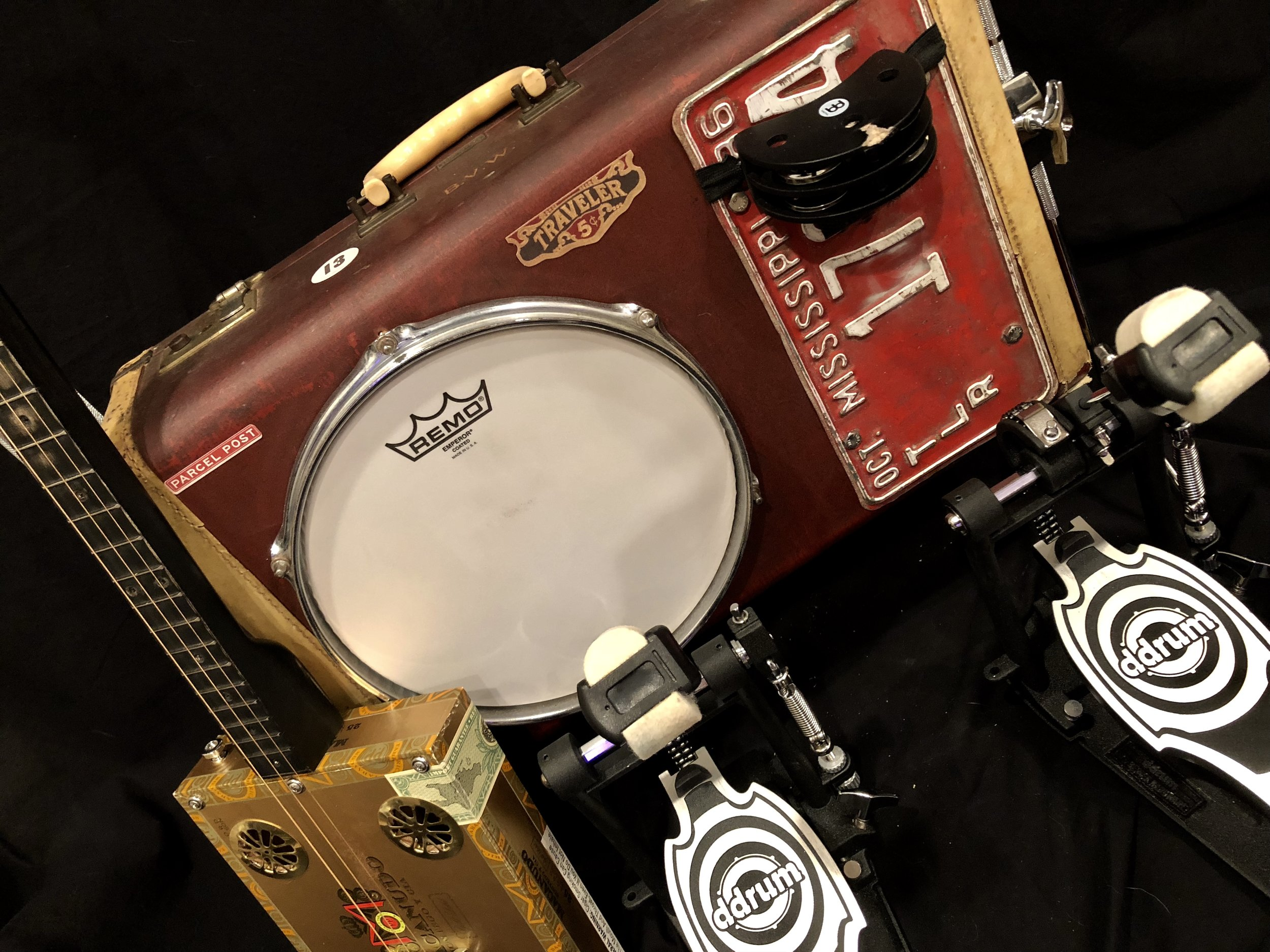 "Roots. Pan American 10"" Robert Johnson Series with Cigar Box guitar handcrafted in Ft. Worth TX by CBG.com."