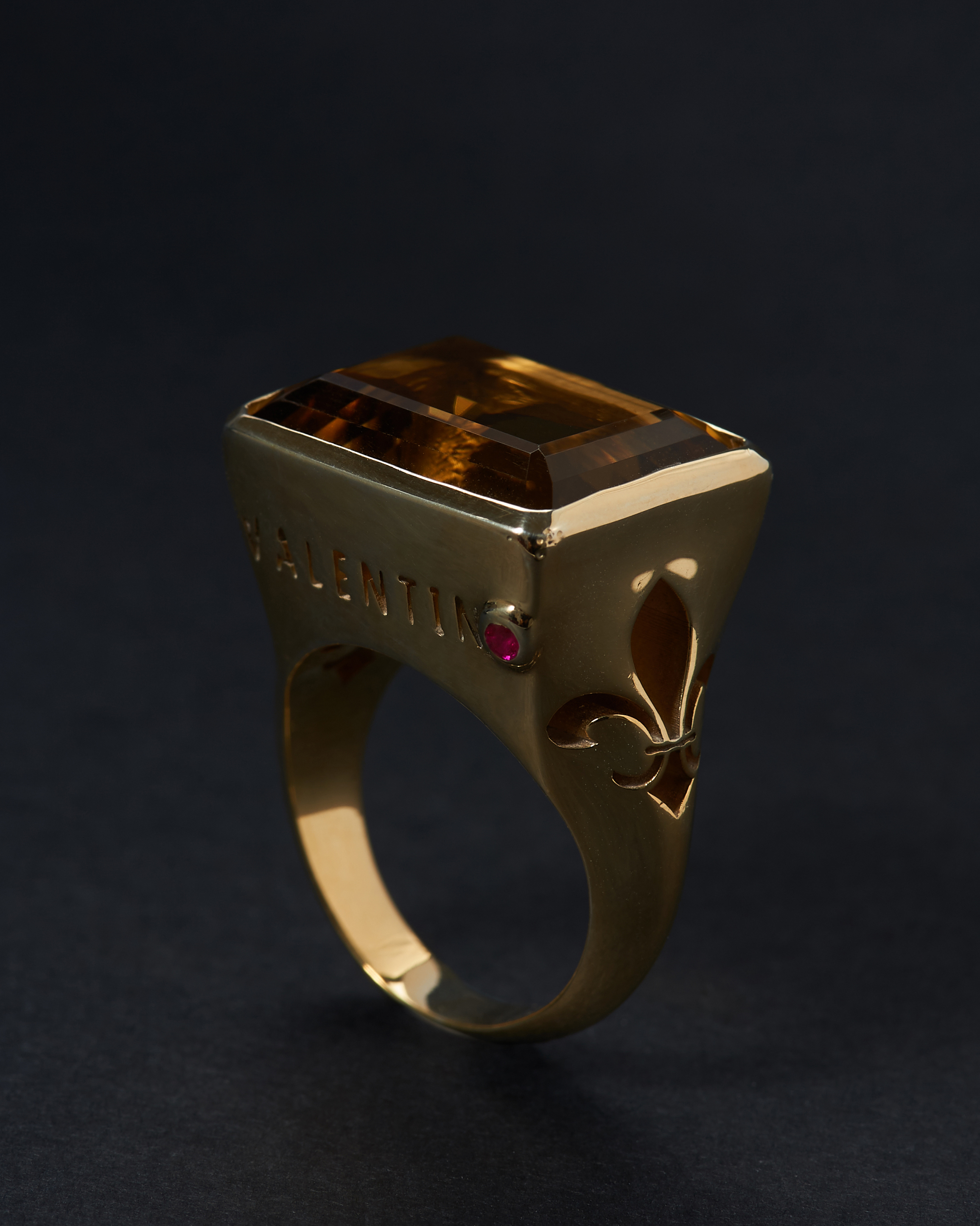 CITRINE RUBY GOLD 18K  Anonyme
