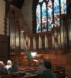 An organ demonstration during MayFair.
