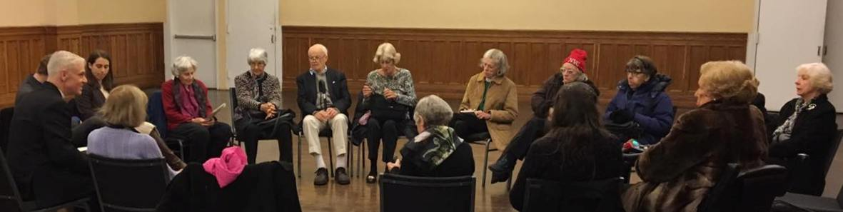 A Bible Study held in Draesel Hall as a part of our Sunday morning Adult Christian Formation.