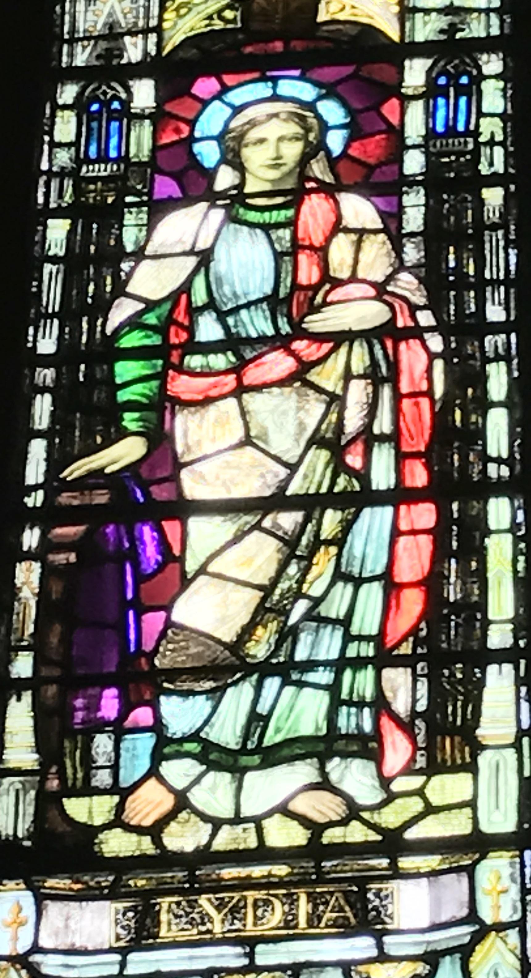 Lydia, Early Church businesswoman dealing in purple dye.